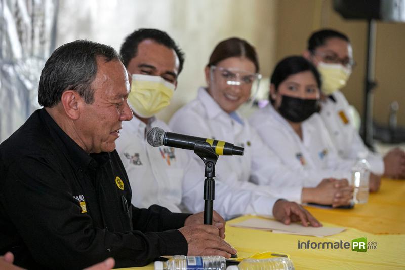 Jesús Zambrano presidente nacional del PRD efectuó una visita a la ciudad de Poza Rica, Ver.