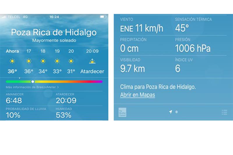 Altas temperaturas en Poza Rica